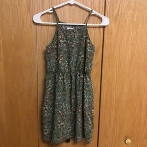Old Navy Girls Cami Green Floral Dress Size 14